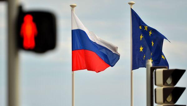 Zastave Rusije i Evropske unije na obali Nice - Sputnik Srbija