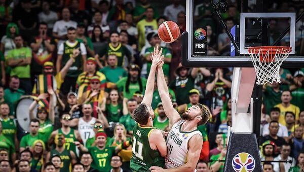 Detalj sa utakmice Litvanija - Australija - Sputnik Srbija