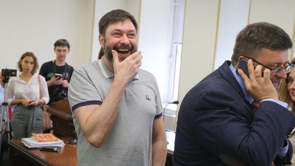 Уредник портала РИА Новости Украјина Кирил Вишински у апелационом суду у Кијеву - Sputnik Србија