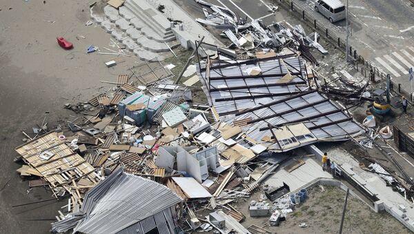 Posledice udara tajfuna Faksaji u Japanu - Sputnik Srbija