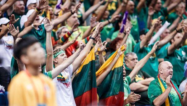 Navijači Litvanije na meču Dominikanska Republika - Litvanija - Sputnik Srbija