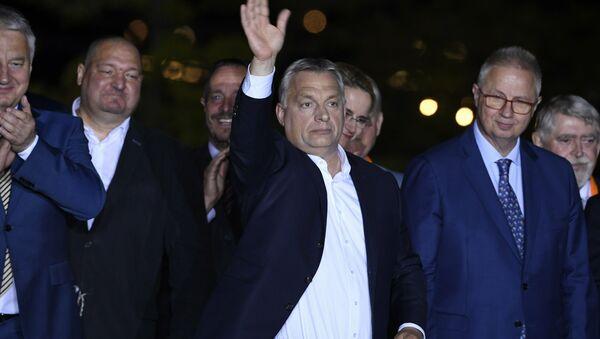 Viktor Orban i Laslo Tročanji - Sputnik Srbija