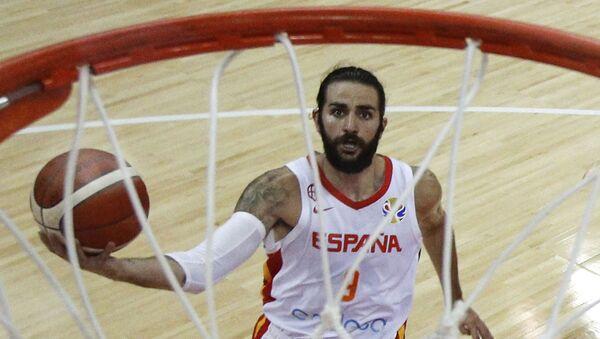Шпански репрезентативац Рики Рубио на четвртфиналном мечу против Пољске - Sputnik Србија