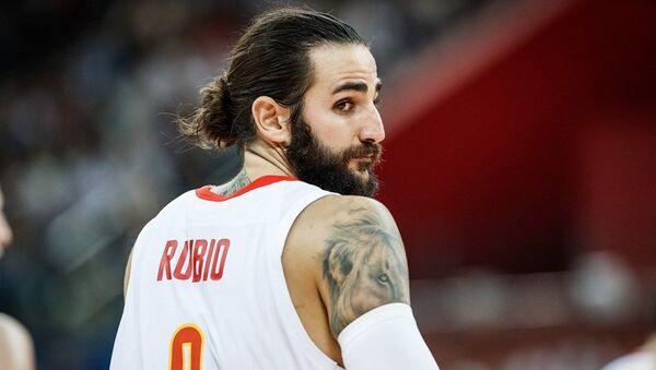Шпански плејмејкер Рики Рубио на утакмици против Пољске - Sputnik Србија
