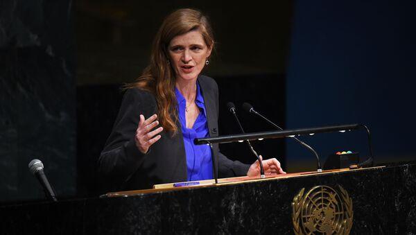 Bivša stalna američka predstavnica u UN Samanta Pauer  - Sputnik Srbija