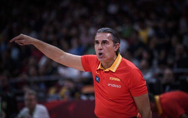 Селектор шпанске репрезентације Серђо Скариоло на мечу против Аустралије - Sputnik Србија