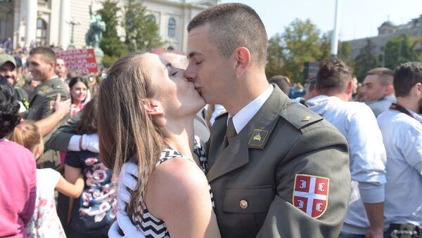 Detalj sa polaganja zakletve nove generacije oficira - Sputnik Srbija