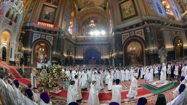 Liturgija u hrama Hrista spasitelja u Moskvi - Sputnik Srbija