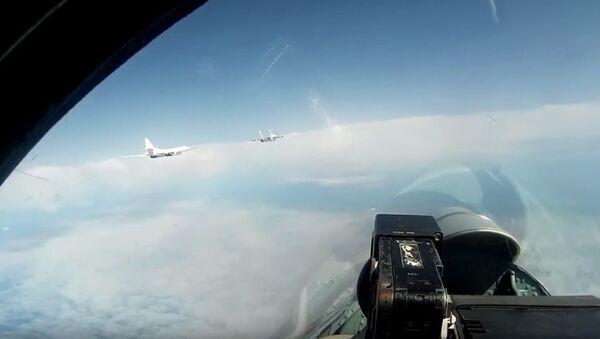 Лет Ту-160 изнад Балтичког мора - Sputnik Србија