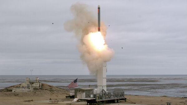Lansiranje američke krstareće rakete kopnenog baziranja sa vojne baze u Kaliforniji - Sputnik Srbija