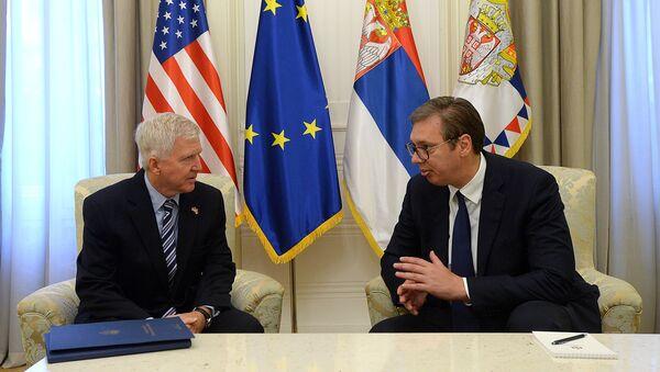 Kajl Skot i Aleksandar Vučić - Sputnik Srbija