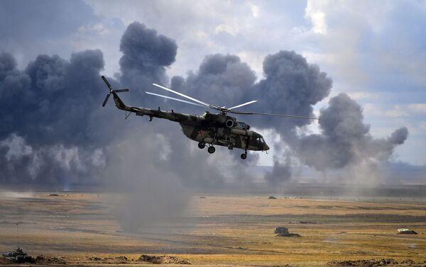 Хеликоптери Ми-8 на војним вежбама Центар 2019 - Sputnik Србија