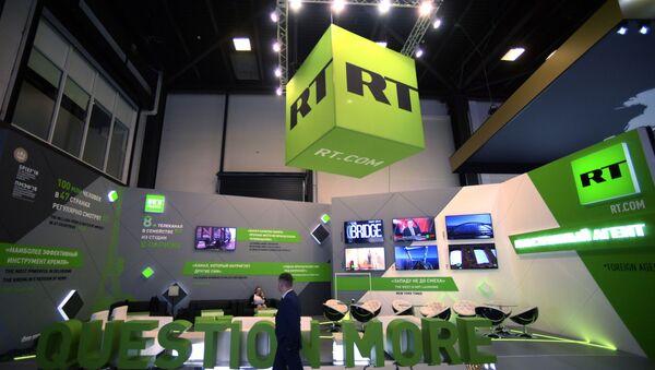 Штанд телевизије РТ на Међународном економском форуму у Санкт Петербургу - Sputnik Србија