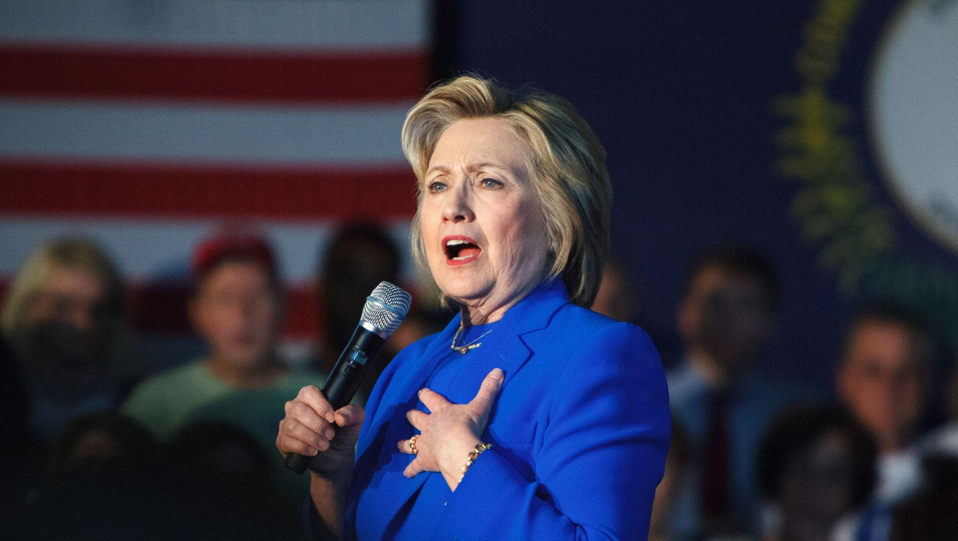 Bivša američka državna sekretarka Hilari Klinton tokom predizborne kampanje - Sputnik Srbija, 1920, 06.05.2021