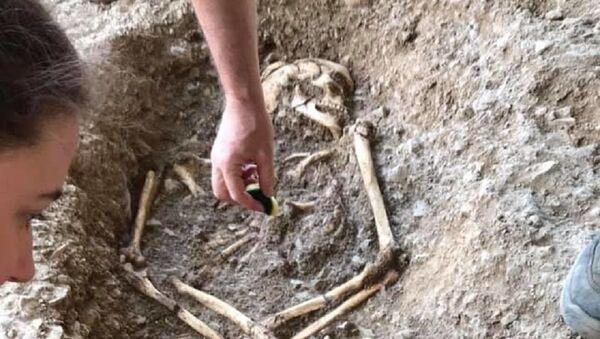 Skelet pronađen na lokalitetu Vlasac. - Sputnik Srbija