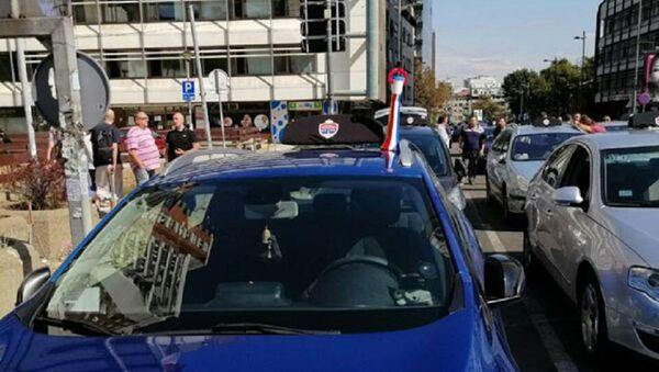 Протест таксиста у Београду - Sputnik Србија