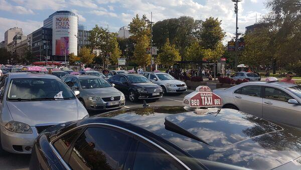 Протест таксиста који је блокирао Београд - Sputnik Србија