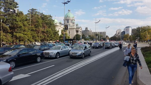 Протест таксиста, Београд - Sputnik Србија