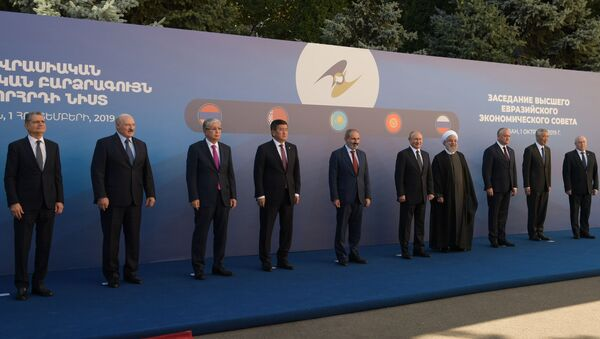 Lideri Evroazijskog ekonomskog saveza na samitu u Jerevanu - Sputnik Srbija