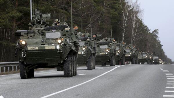 Војници и оклопна возила америчког 2. пука распоређени у Естонији током војних вежби - Sputnik Србија