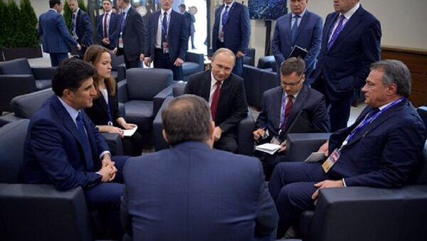 Владимир Путин и Милорад Додик на самиту у Санкт Петербургу - Sputnik Србија