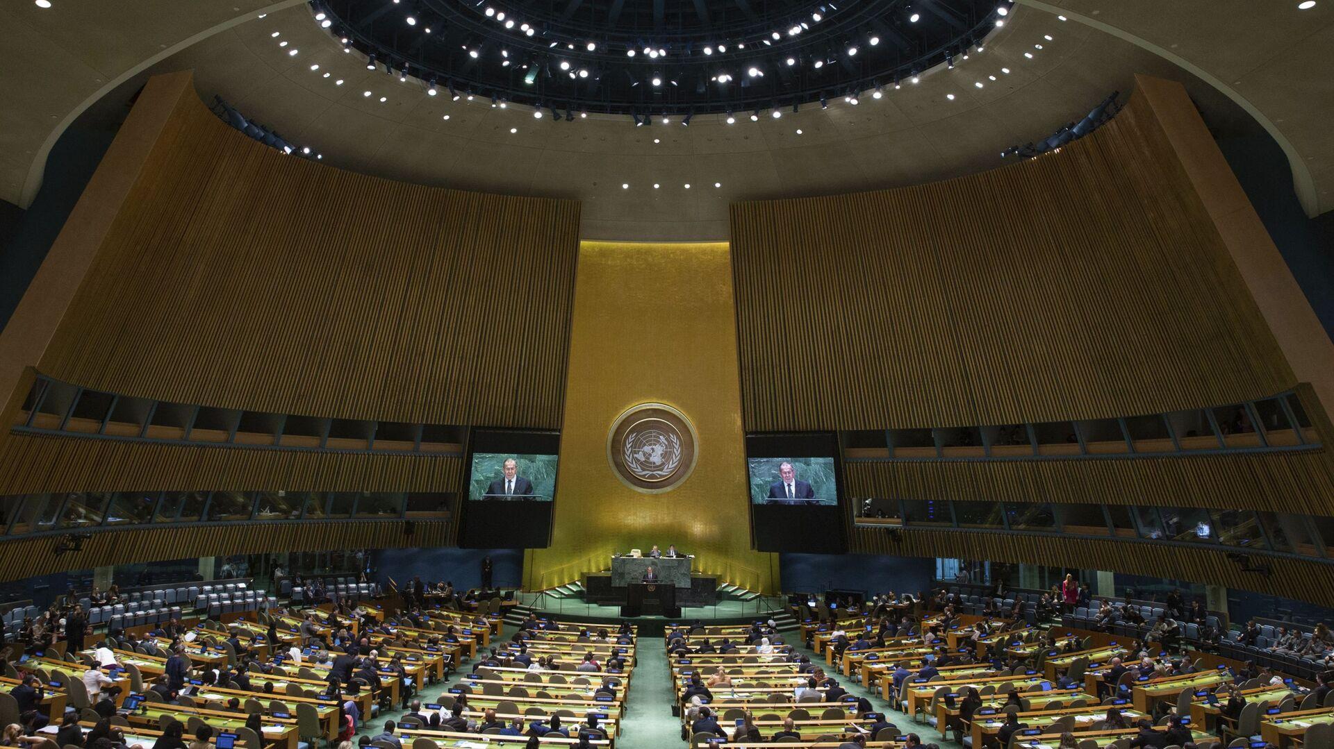 Министар спољних послова Русије Сергеј Лавров говори на 74. заседању Генералне скупштине УН у Њујорку - Sputnik Србија, 1920, 19.09.2021