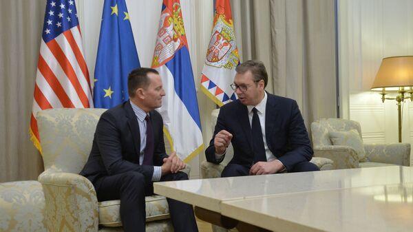Ričard Grenel i Aleksandar Vučić - Sputnik Srbija