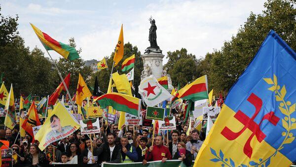 Hiljade Parižana na protestima zbog turske operacije u Siriji - Sputnik Srbija