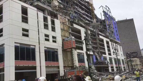 Deo hotela Hard rok, u izgradnji, u Nju Orleansu se srušio - Sputnik Srbija