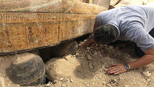 Otkopavanje drevnih sarkofaga u Luksoru, Egipat - Sputnik Srbija