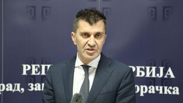 Министар за рад, запошљавање, борачка и социјална питања Зоран Ђорђевић - Sputnik Србија