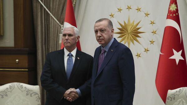 Majk Pens i Redžep Tajip Erdogan u Ankari - Sputnik Srbija