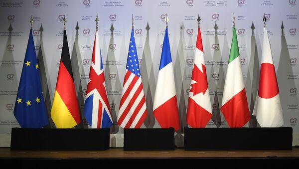 Zastave zemalja-članica grupe G7 na samitu u Bijaricu - Sputnik Srbija