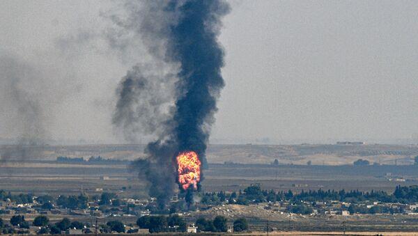Napadi turske vojske na položaje sirijskih Kurda u sirijskom gradu Ras el Ajn - Sputnik Srbija