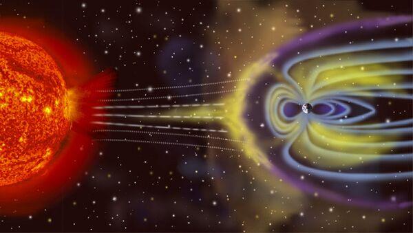 Šema nastanka geomagnetne oluje na Zemlji - Sputnik Srbija