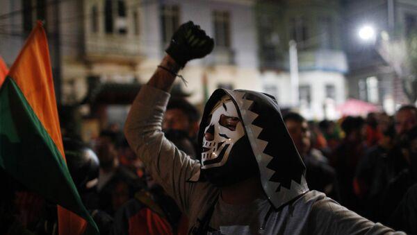 Protest pristalica opozicije u Boliviji. - Sputnik Srbija