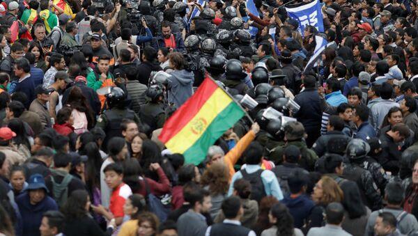 Демонстрације опозиције у Боливији, неће Моралеса за председника - Sputnik Србија