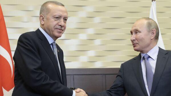 Владимир Путин и Реџеп Тајип Ердоган у Сочију 22. октобра 2019. - Sputnik Србија