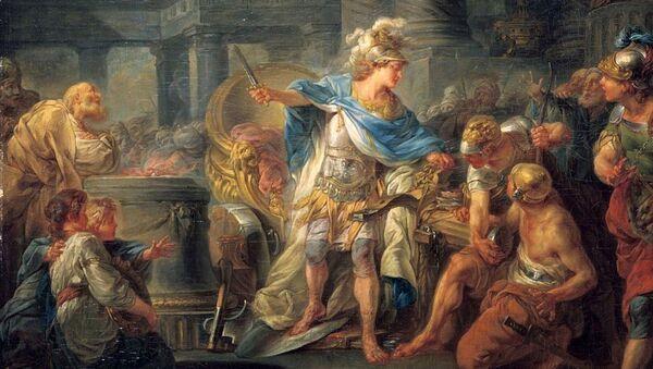 Александар Велики сече Гордијев чвор - Sputnik Србија