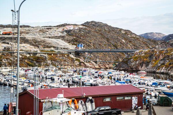 Бродска станица у граду Илулисат на острву Гренланд. - Sputnik Србија