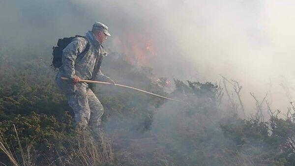 Гашење пожара на Старој планини - Sputnik Србија