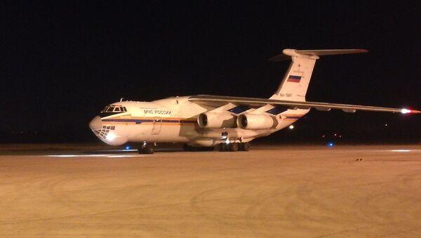 Avion Ministarstva za vanredne situacije Rusije Il-76 na aerodromu u Nišu - Sputnik Srbija
