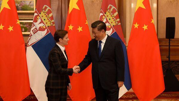 Ana Brnabić i Si Đinping - Sputnik Srbija