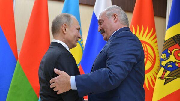 Председници Русије и Белорусије Владимир Путин и Александар Лукашенко - Sputnik Србија
