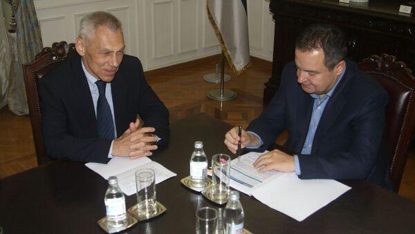 Ivica Dačić i Aleksandar Bocan-Harčenko - Sputnik Srbija