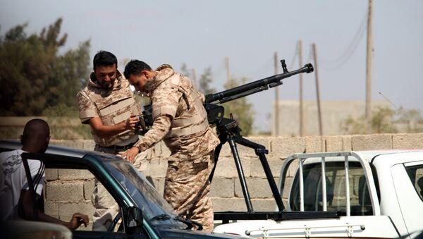 Pripadnici Libijske nacionalne armije u Bengaziju - Sputnik Srbija