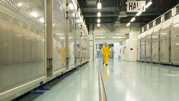 Фотографија иранске Агенције за атомску енергију, снимљена 6. новембра, приказује унутрашњост нуклеарног погона у Фердоусу, дан пре него што ће у њему почети обогаћивање уранијума. - Sputnik Србија