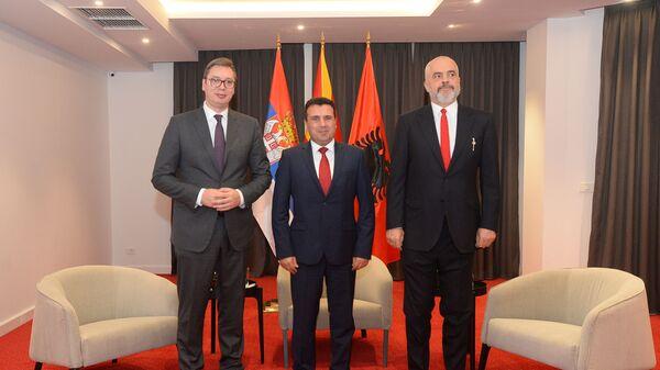 Vučić, Zaev i Rama na sastanku u Ohridu - Sputnik Srbija