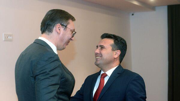 Vučić i Zaev na sastanku u Ohridu - Sputnik Srbija