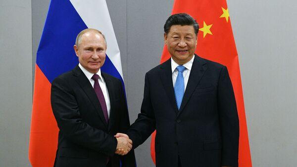 Predsednici Rusije i Kine, Vladimir Putin i Si Đingping - Sputnik Srbija